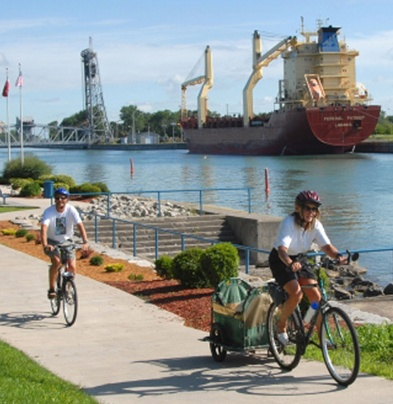 Bike trails along the water in Port Colborne