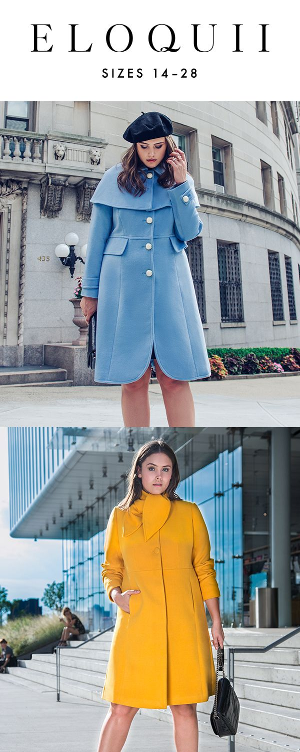 Give your chilly weather wardrobe a burst of color! Shop coats at ELOQUII with the code HELLO40 for 40% off your first order (excludes shoes and final sale).