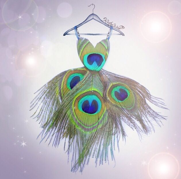 Peacock Dress | Kristina Webb | Instagram: @colour_me_creative