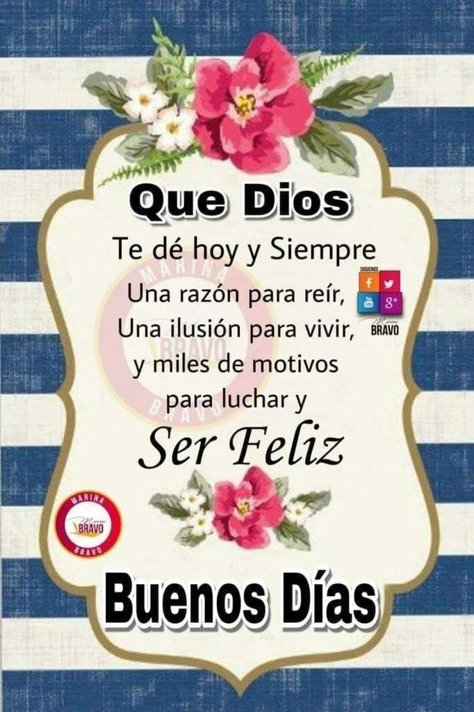 Amen Gudelia Santana Frases De Buenos Dias Saludos De Buenos