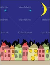 Картинки по запросу ночной город рисунок
