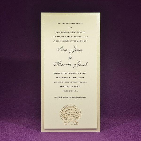 Seashell Wedding Invite