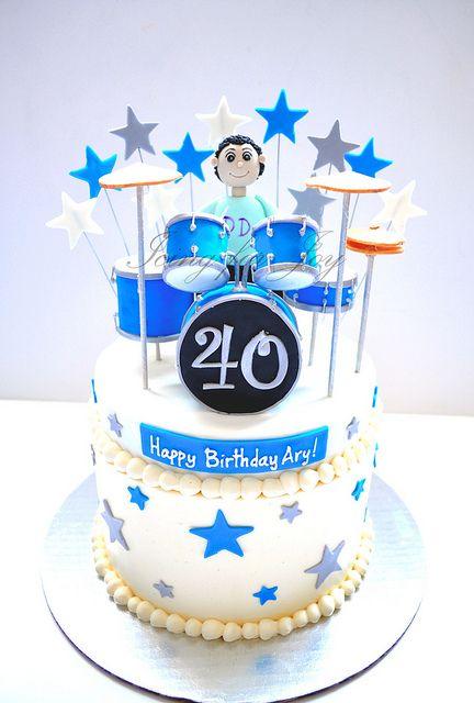 Drummer cake