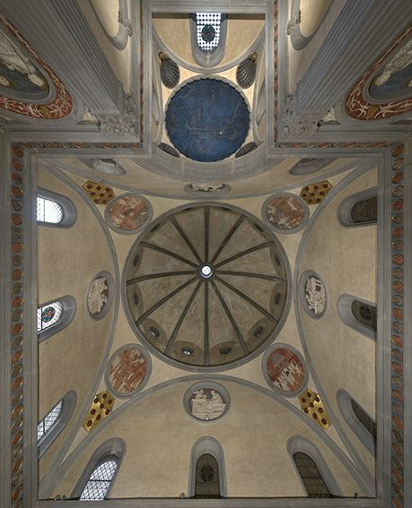 Sagrestia vecchia di san lorenzo 1422 1428 firenze for Interior iglesia san lorenzo brunelleschi