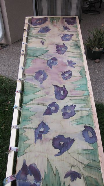 Silk Batik Scarf in Process IMG_0644_1   Flickr -