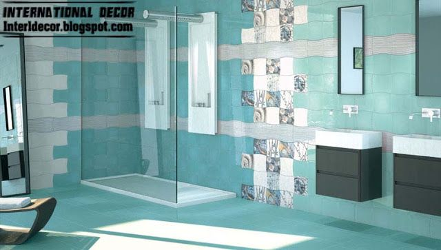 Stylish design options for wall and floor in the bathroom tiles. how to choose the suitable bathroom tiles designs and ideas 2016, Original examples of combinations of colors and shades