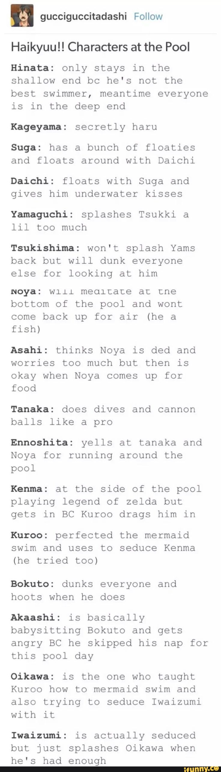 Wut this is exactly what would happen too. Whoever made this post has read just as many fics as me  haikyuu, daisuga, kuroshitsuji, asanoya, iwaoi