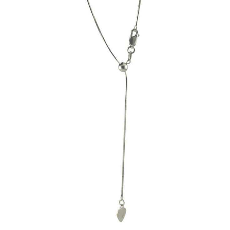 Adjustable Sterling Silver Snake Chain Necklace Max length 22 in | apoptosisnyc.com