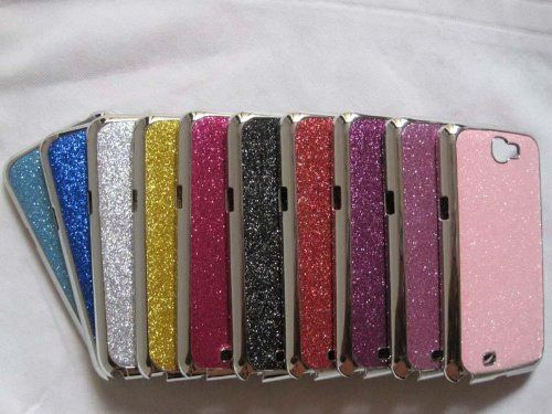 10 Pcs Chrome Bling Hard Back Cover Case for Samsung Galaxy Note 2 Ii N7100  #JKKhian #Wireless