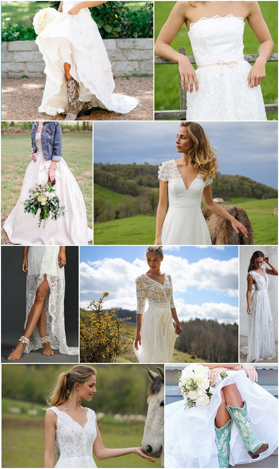 48 best barn wedding attire images on pinterest dress for Country dresses for wedding guest