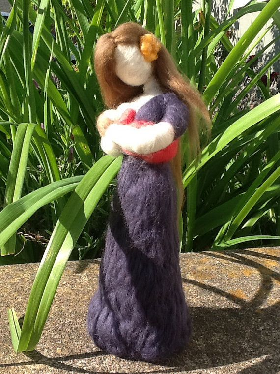 Needle Felted Breastfeeding Mother and Infant by radishwoolworks, $45.00