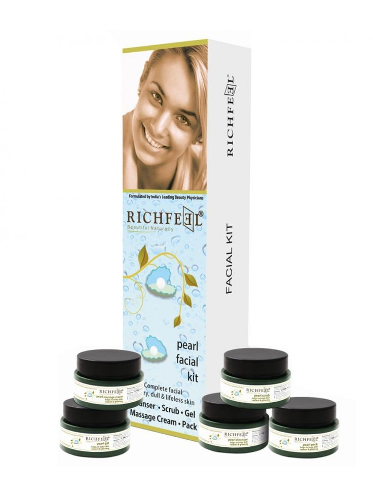 Richfeel Natural Pearl Facial Kit For Dry | IndianBeautifulArt
