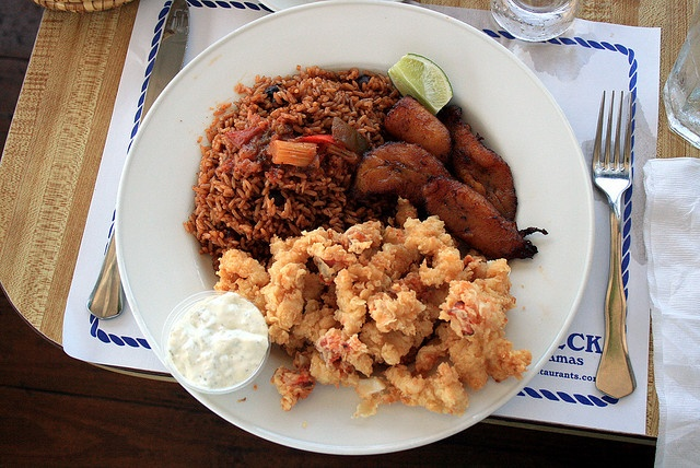 STEP 61 – Crack Conch with Peas and Rice in the Bahamas.  Photo by ruben i (on Flickr)