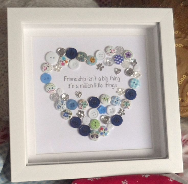 Friendship Button Heart Picture LOVE FRIEND Wall Christmas Gift Buttons Print by ButtonsandBobbinsUK on Etsy https://www.etsy.com/listing/254953757/friendship-button-heart-picture-love