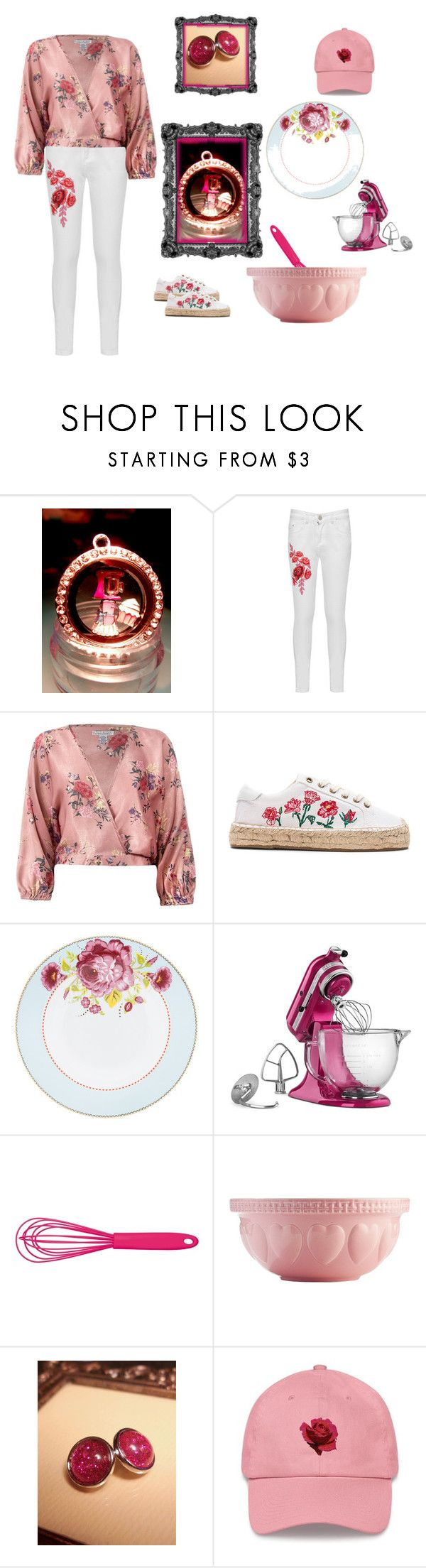"""Mix it Up"" by cozeequilts ❤ liked on Polyvore featuring WearAll, Sans Souci, Soludos, PiP Studio, KitchenAid, Kitchen Craft Colourworks and Mason Cash"