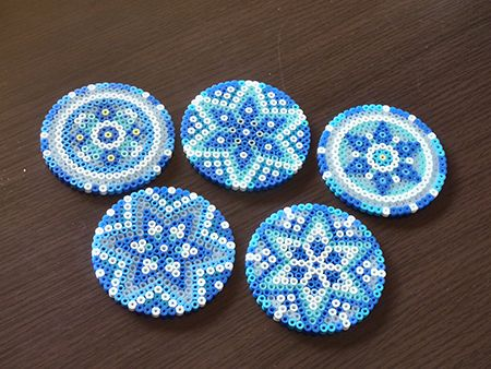 Coasters perler beads by Mao Uono