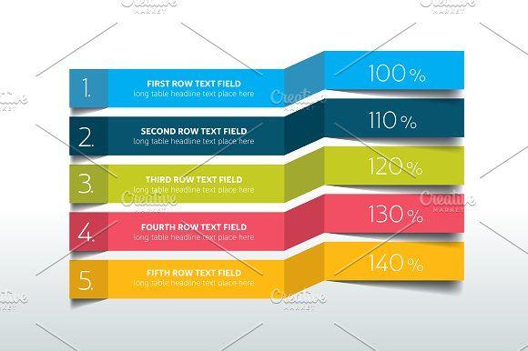 Table Schedule Infographic Presentation Design Template Schedule Design Business Infographic