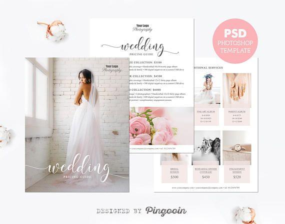 Price list template. Wedding photography pricing template. Pricing guide. Pricing template. Marketing template. Editable PSD files. PLT25