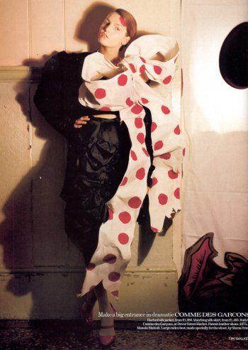Jacquetta Wheller in Comme des Garçons Ensemble, photographed by Tim Walker for Vogue, 2004 tag: Rei Kawakubo