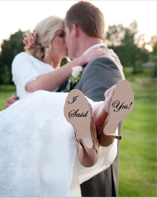 Benutzerdefinierte Hochzeit Schuh Decal Braut von VinylDecalShoppe