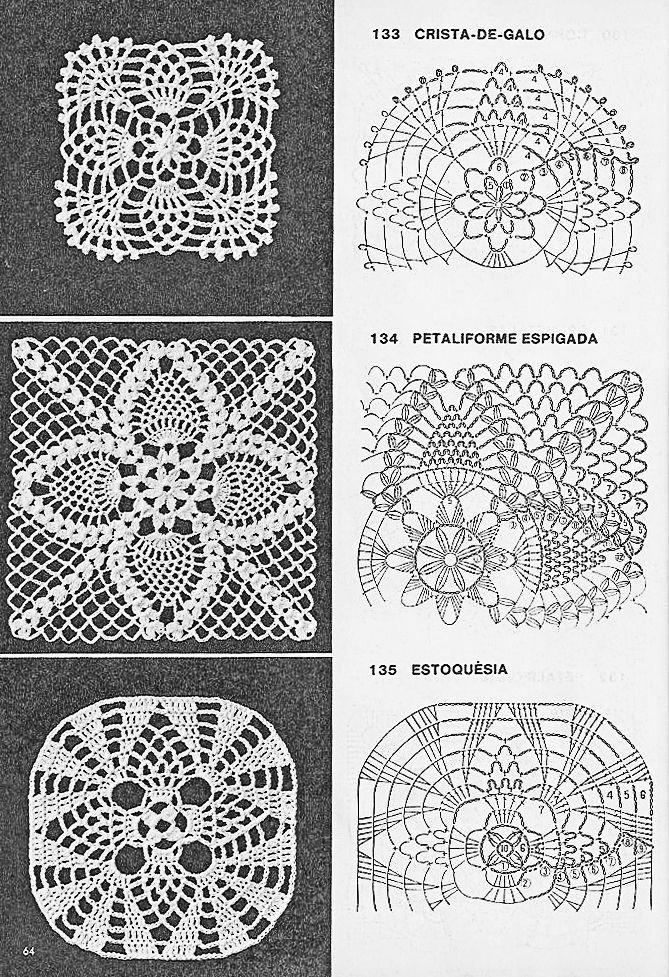 Coisas da Léia - Resgate de boas sensações: Quadrados de Crochê