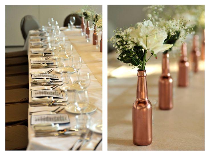 table setting, copper anniversary @ restaurant de Boschvijver