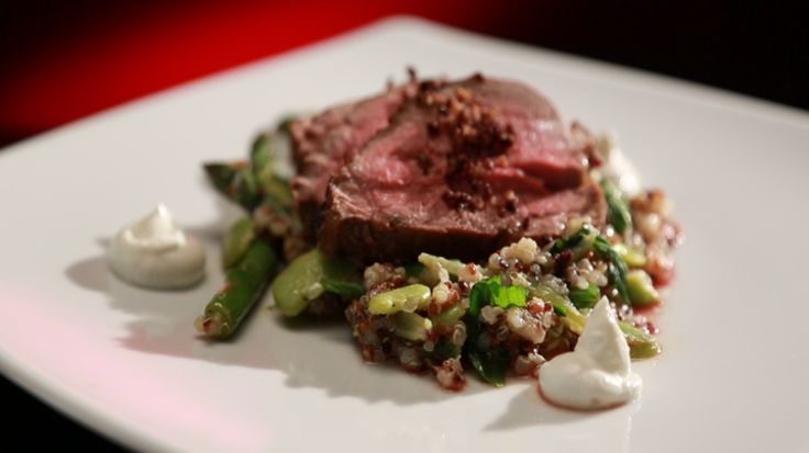 Lamb Rump with Asparagus and Spring Bean Salad [My Kitchen Rules Australia #mkr]
