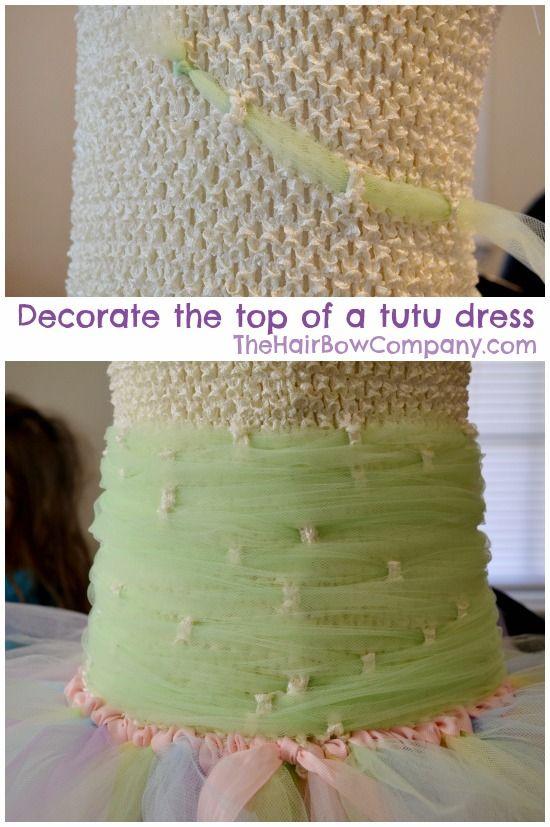 Idea for filling top of tutu dress