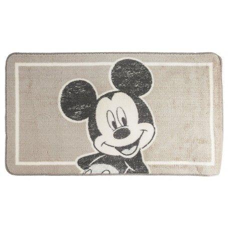 Tapis de salle de bain Mickey couleur taupe