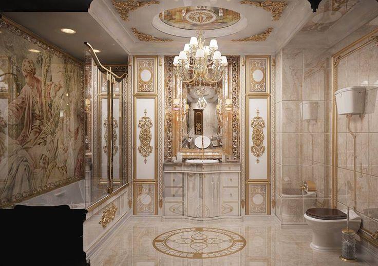 """День золота  Золото с древности и до наших дней остается символом успеха, эталоном роскоши. Белоснежная ванная с сочетанием золотых аксессуаров выглядит роскошной и запоминающийся. Изысканные """"золотые"""" детали и аксессуары добавят элегантности и статусности помещению. Золото ассоциируется с властью, славой, поэтому пребывание в такой золотой ванной комнате будет весьма приятным и комфортным для психики любого человека. Блеск золота в сочетании с белыми тонами напоминает сияние солнца, и…"""