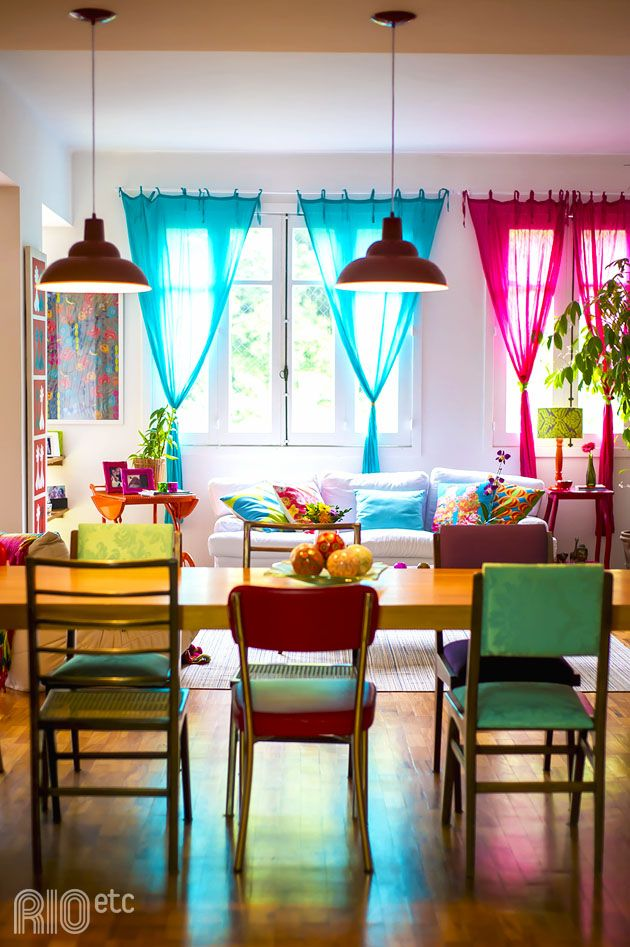 I love this space and eclectic chairs...sort of looks like my house! LOL