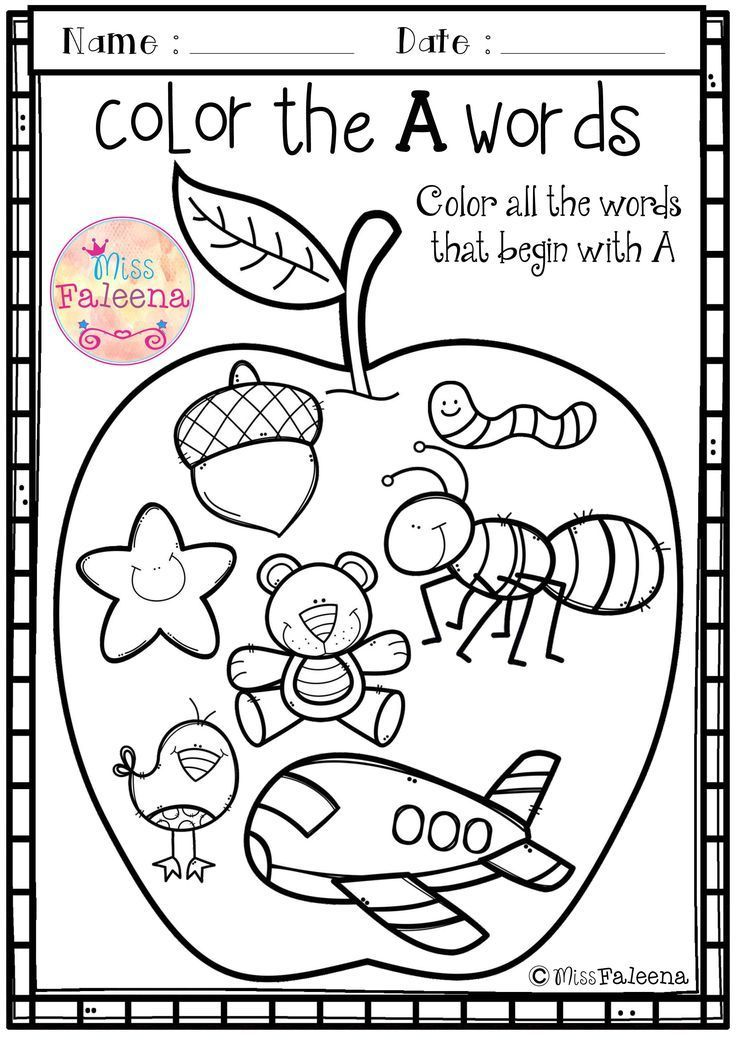 free alphabet letter of the week a teaching first grade preschool worksheets kindergarten. Black Bedroom Furniture Sets. Home Design Ideas