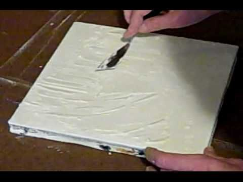 Art Tutorial - Acrylic & Mixed Media Art Canvas - Gesso, Acrylics, Joint…
