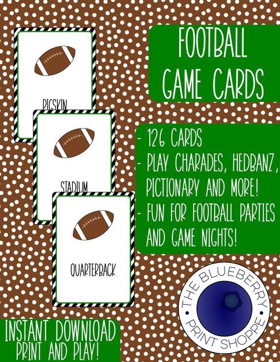 Football Printable Game Football Party Game Super Bowl Etsy Superbowl Party Games Football Party Games Football Games