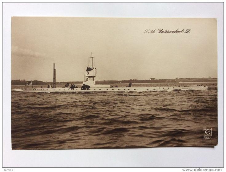 """SUBMARINE U-BOOT    S.M. UNTERSEEBOOT III.    """" U3  """"   - Submarinos"""