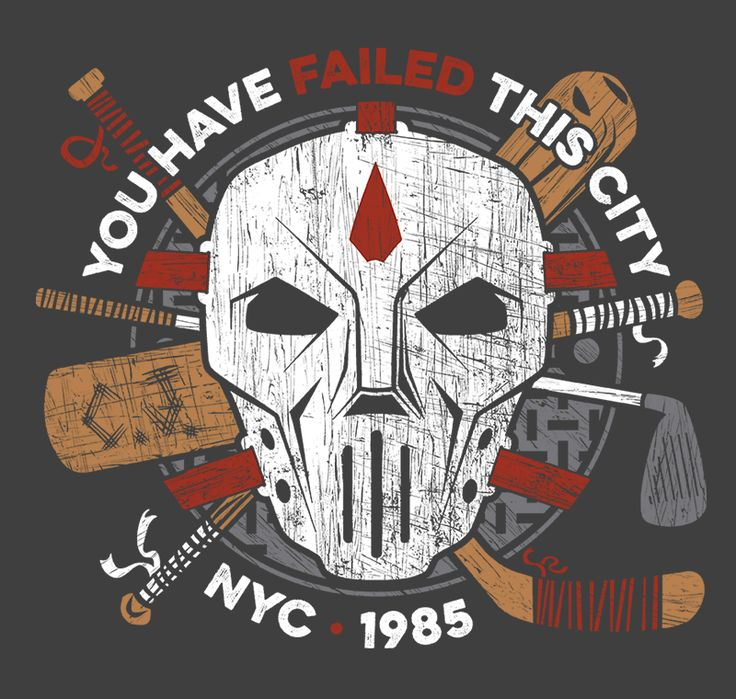 You Have Failed NYC T-Shirt - Casey Jones T-Shirt is $11 today at Ript!