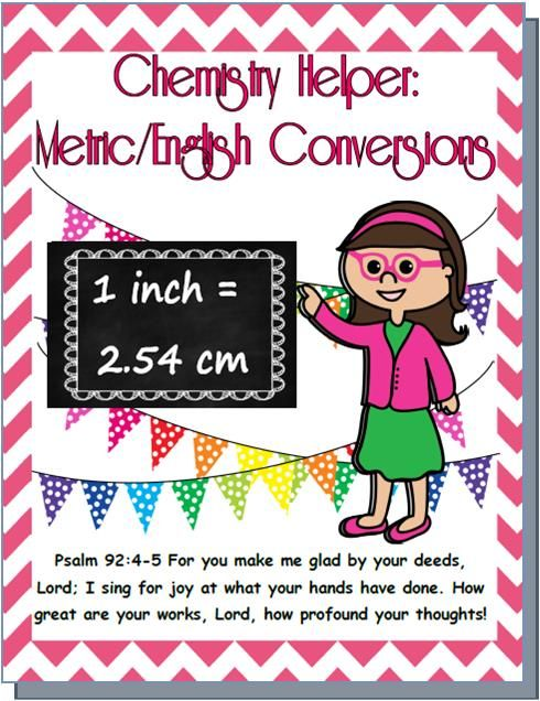 Chemistry Helper: Metric/English Conversion Chart