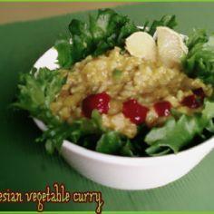 Helppoa ja nopeaa, vegaanin indonesialaista curryä. Kasvisruoka, vegaani. Reseptiä katsottu 5187 kertaa. Reseptin tekijä: insanity_.