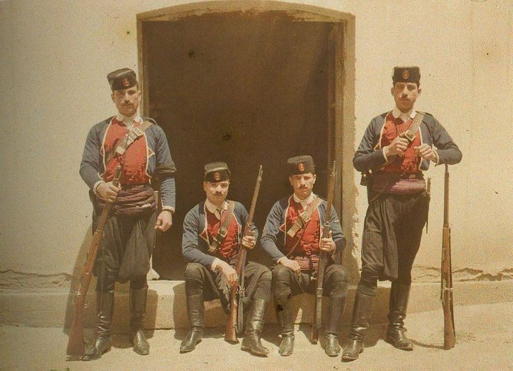 """historicaltimes: """" Autochrome by Albert Khan of Ottoman soldiers in Thessaloniki, 1913 """""""