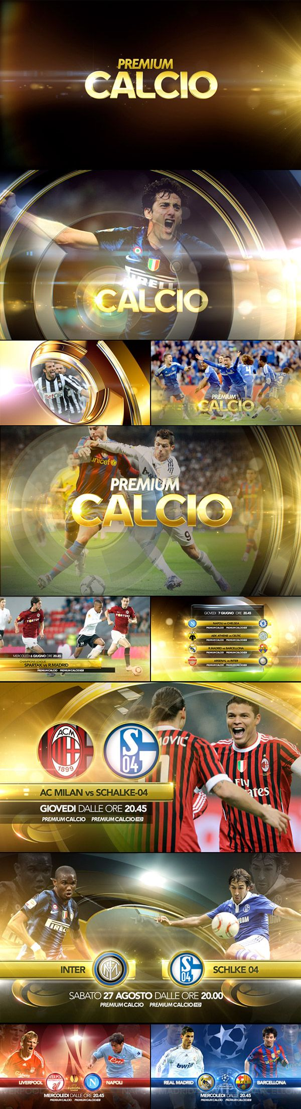 Premium Calcio is a package of 10 Mediaset Premium pay TV channels almost exclusively dedicated to this sport. It offers live matches on real-time and its package includes the whole Premier League, the Champions League, the UEFA Europe League exclusively,…