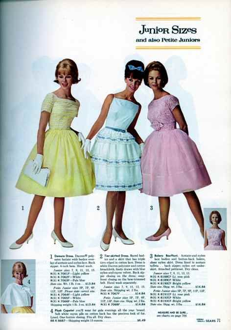 Sears Spring 1964 Catalog P 71 Fashion 1960s In 2019