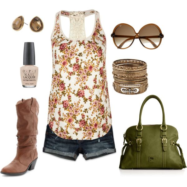 Outfit: Cowgirl Boots, Summer Looks, Style, Shirts, Country Girls, Country Concerts, Summer Outfits, Shorts, Cowboys Boots