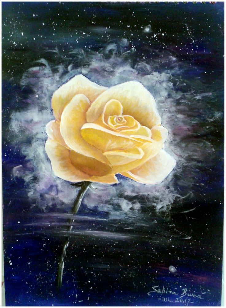 """The Rose Sign"" Acrylics, 40x30 cm For SALE!!!"