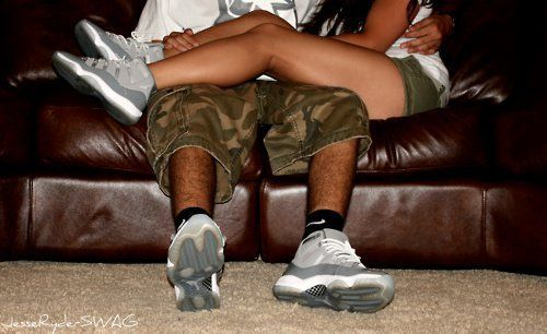 Cool Grey 11s Matching Couple ♡ ..
