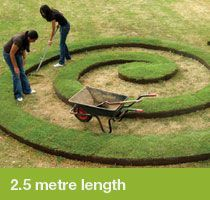 EverEdge ProEdge is 2.5m in length and extremely flexible. Create curves, spirals, bends and shapes with EverEdge steel lawn edging.