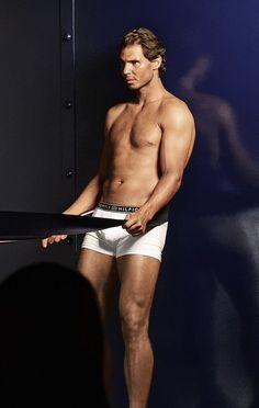Shirtless Rafael Nadal shows off his abs for underwear campaign
