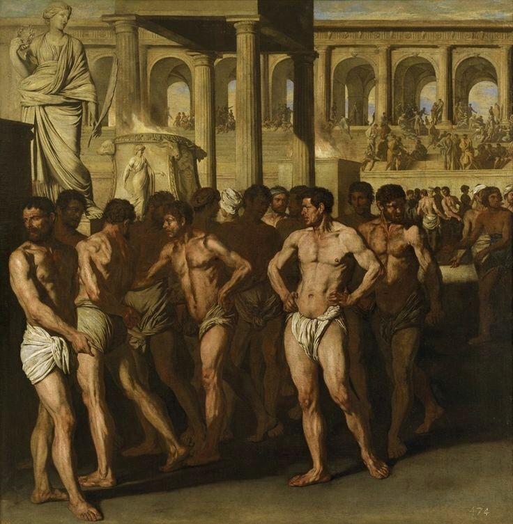 Aniello Falcone, Gladiators, c.1630