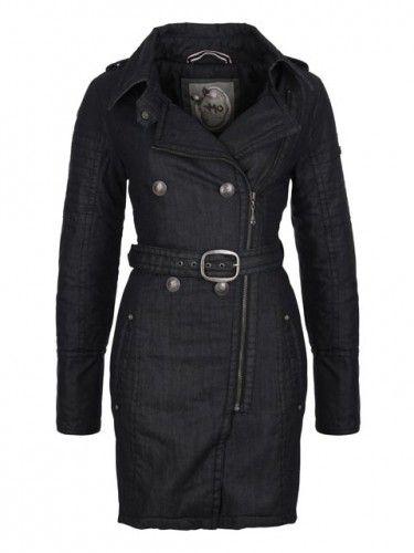 MyMo Dámský kabát 20234094_raw denim