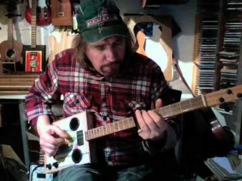 Guitar lessons, so I can learn how to play my CBG!    New Cigar Box guitars from ChickenboneJohn
