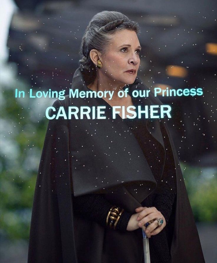 One year ago today we lost Carrie Fisher❤️. . #starwars#carriefisher#princessleia#thelastjedi#starwarsfan#rip